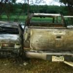 Santiago.- Una Camioneta Y Un Carro Resultaron Quemados Durante Un Accidente